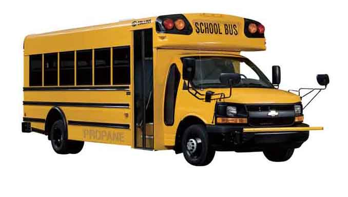 Image of a propane powered bus.