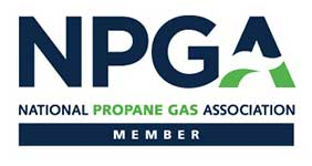 Logo of the national propane gas association.
