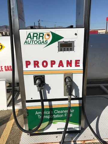 Image of the Mojave Archer Travel Center ARRO Autogas site.