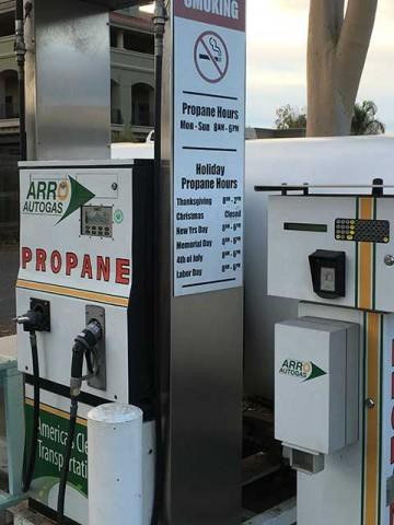 Image of the Main Street Shell Station ARRO Autogas site.