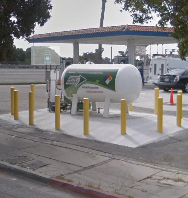 Image of the Ventura Seaward Oil ARRO Autogas site.