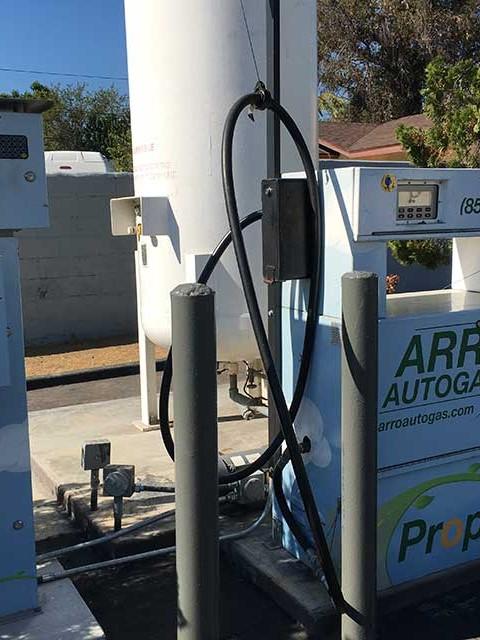 Image of the San Gabriel Mobil Gas Station ARRO Autogas site.