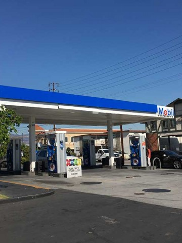 Image of the San Gabriel Mobil Gas Station ARRO Autogas site.