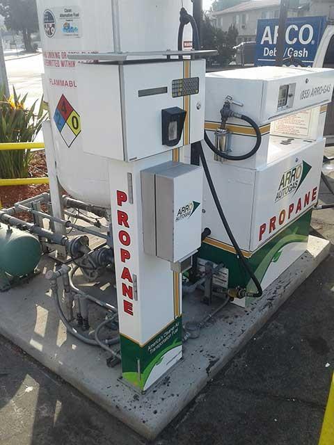 Image of the Burbank Arco Gas Station ARRO Autogas site.