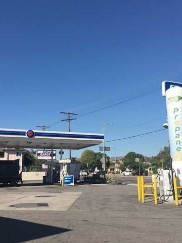 Image of the Burbank Arco Gas Station ARRO Autogas site.