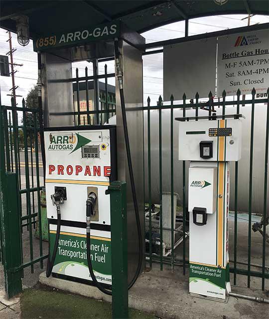 Image of the ARRO Autogas Ammex Los Angeles ARRO Autogas site.